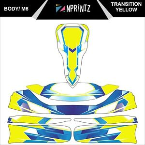 Details about M6 TRANSITION YELLOW TONYKART STYLE FULL KART STICKER KIT TO  FIT M6 BODY