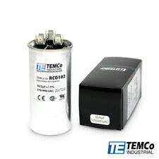 Temco 355 Ufmfd 370 440 Vac Volts Round Dual Run Capacitor 5060 Hz Lot 1