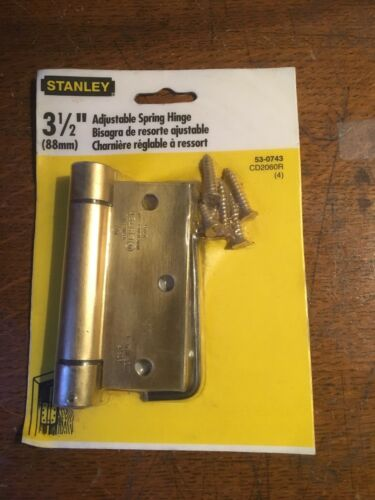53-0743//CD2060R Embalaje Orig. 1 Bisagra del resorte ajustable Stanley nos 3-1//2/""