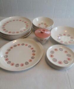 Image is loading Stetson-Quartette-Vintage-Flower-Plate-Bowl-Mod-Pink- & Stetson Quartette Vintage Flower Plate Bowl Mod Pink Mid Century ...