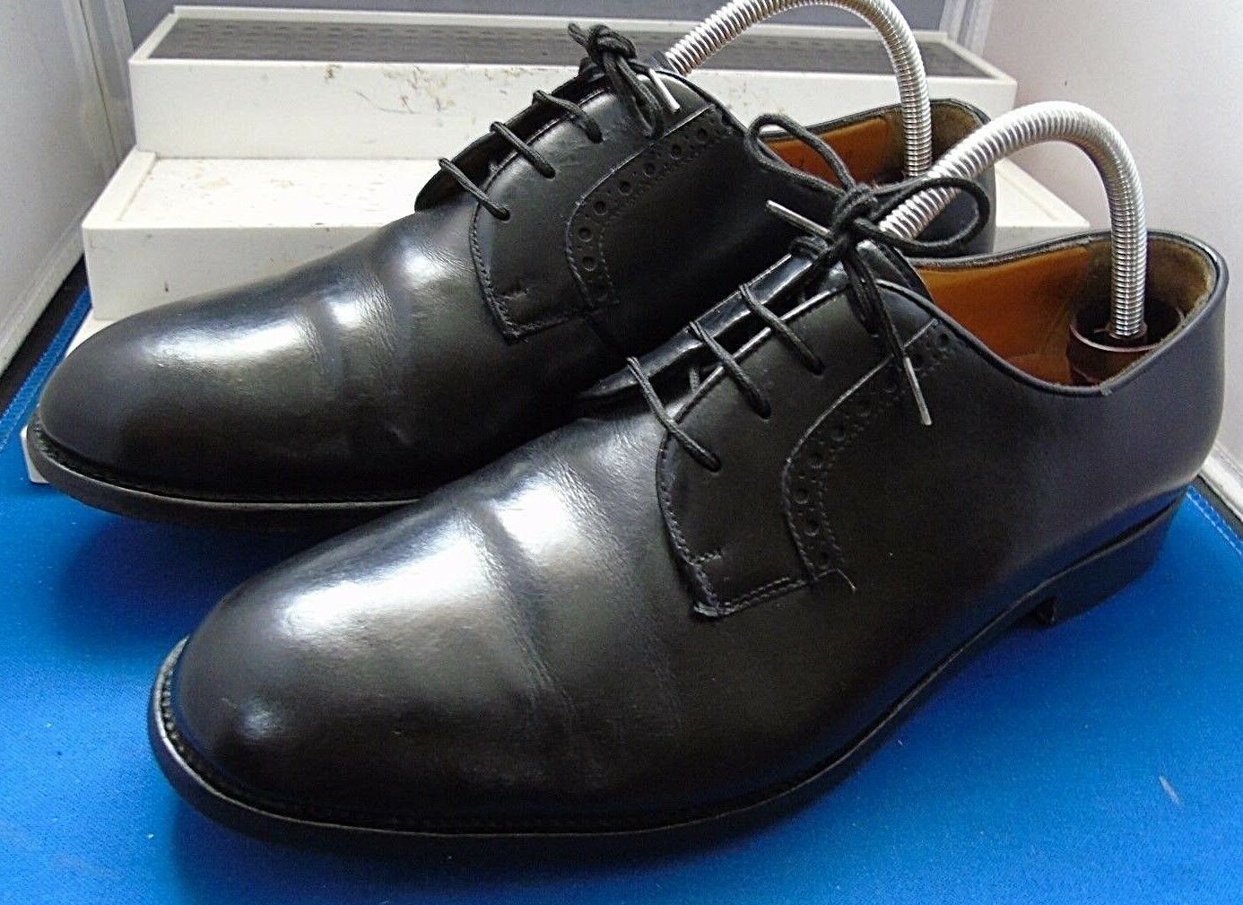 Guy LAROCHE-PARIS SMART Classico Nero 42 Plain Derby Tg EU 42 Nero US 9 0428c3