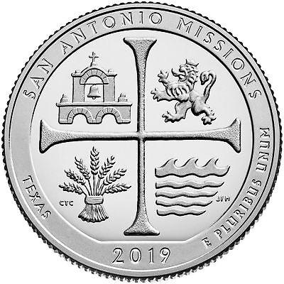 2019 USA QUARTERS SAN ANTONIO MISSIONS TEXAS NP ATB SET 3 COINS PDS MINTS