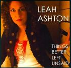 Things Better Left Unsaid [Slipcase] by Leah Ashton (CD)