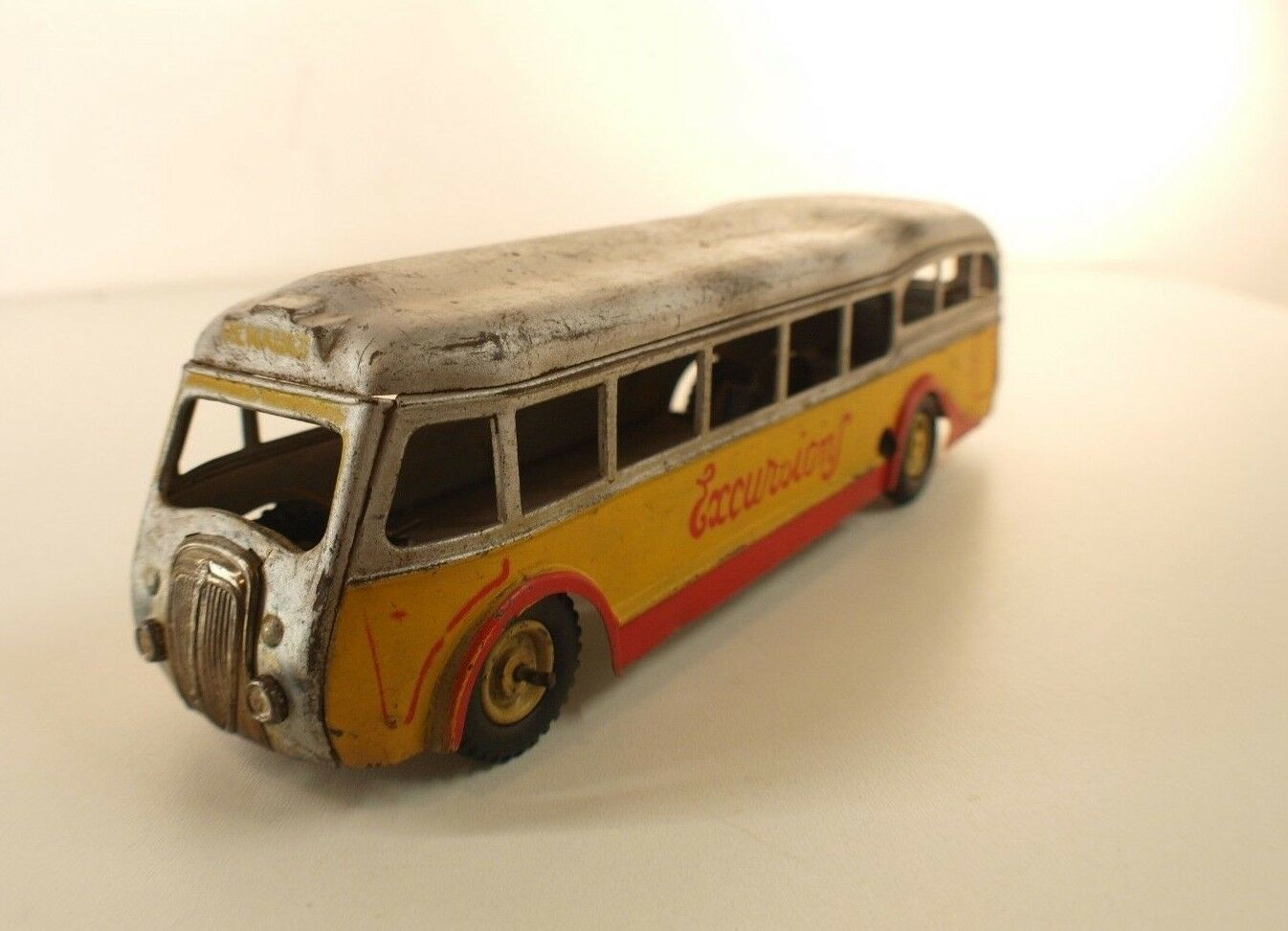 Cij Francia N º 6.10 Coche Renault Bus X Autobús Mecánico Tin Juguete
