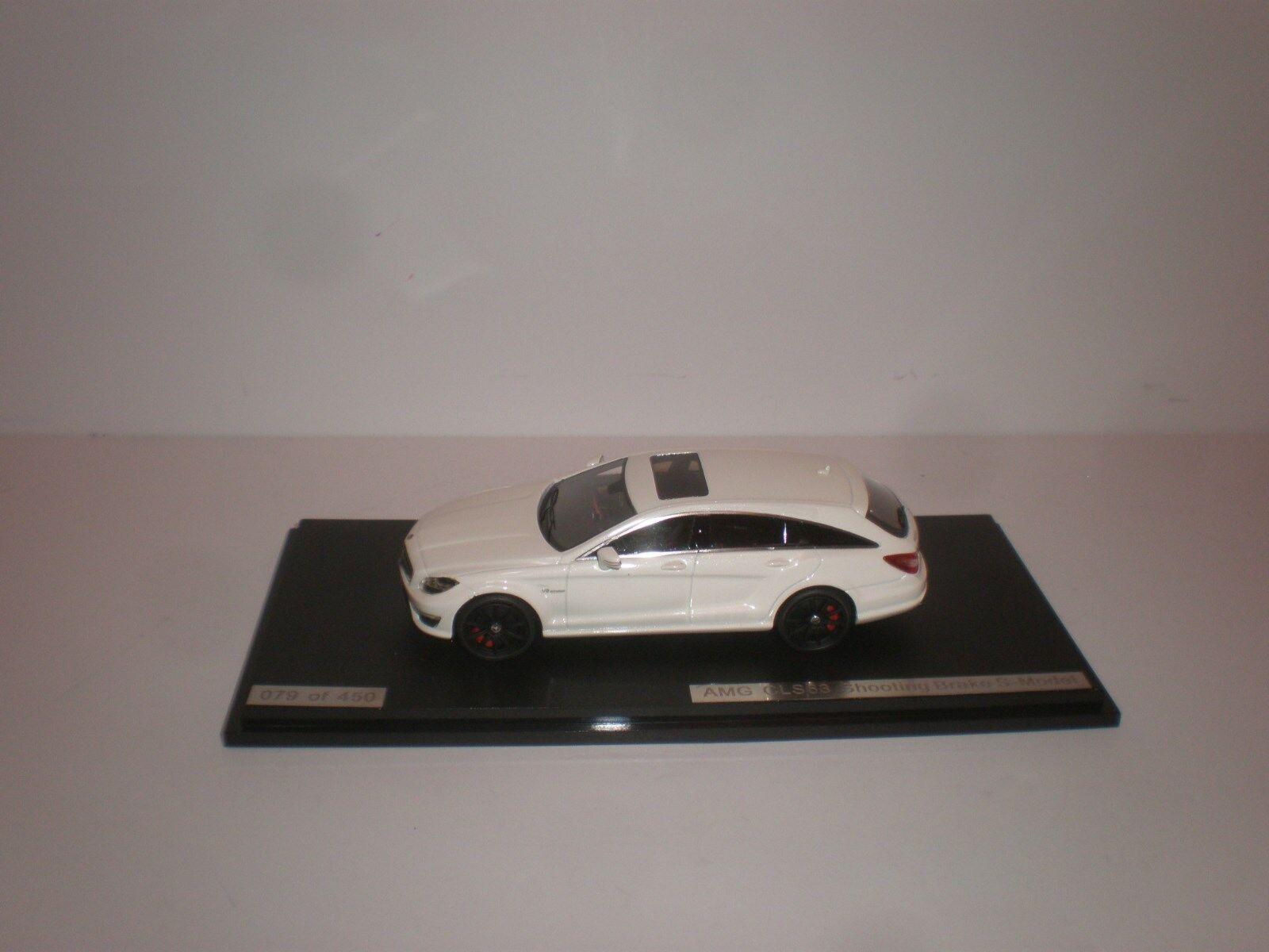 1 43 GLM Mercedes Benz CLS63 Freno de de disparo Metálica en biancao s-Modelo