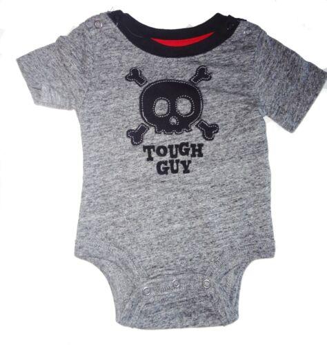 Koala Kik Tough Guy Newborn Skull Biker Black Bodysuit Boys Short sleeve