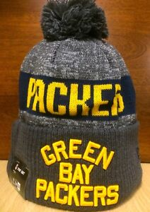 e50d1ac04 2016 NFL Green Bay Packers New Era Sideline On Field Knit Beanie Hat ...