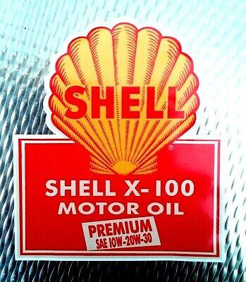 OIL LOGO  GARAGE GAS STATION PROMO STICKER DECAL UNUSED /'SHELL FILTER/' PETROL