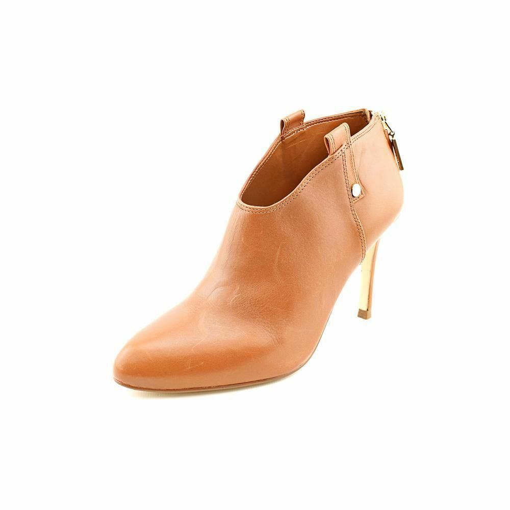 249.00 Ivanka Trump Juno Womens Size 5 Brown Leather Booties shoes New Display
