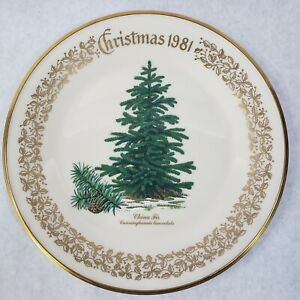 1981-Lenox-Limited-Christmas-Commemorative-Issue-dinner-plate-China-Fir