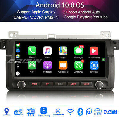 Android Auto Built-in Apple Carplay//DSP-9 Inch-GA9465B Support Split Screen Eonon Car Radio Applicable to 3 Series E90//E91//E92//E93 2020 Newest Android Car Stereo Android 10 Double Din Car Stereo