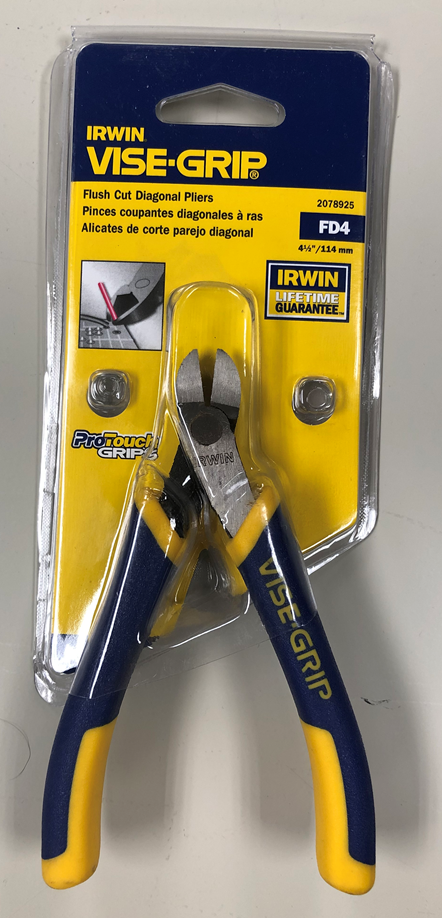 2078925 IRWIN Tools VISE-GRIP Pliers Flush Diagonal with Spring 4 1//2-Inch