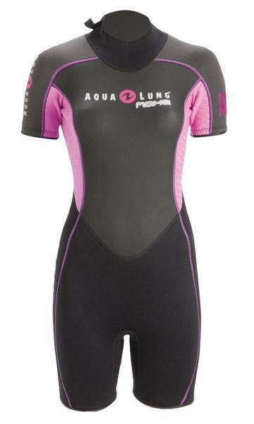 Aqualung Mahe Womens 3.5mm Shorty Scuba Diving Divers Neoprene Wetsuit Pink XS