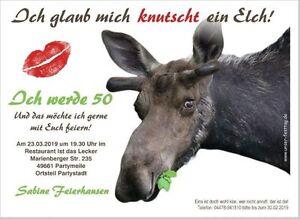 Details Zu Geburtstagseinladungen Feier Party Elch Spruch Witzig 30 40 50 60 Text Gestalten
