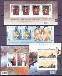Canada Scott #s 2213, 2323, 2371 & 2383b Souvenir Stamp Set MNH