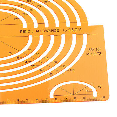 PLASTIC LARGE ISOMETRIC ELLIPSE DRAWING STENCIL STUDENTS MATH RULER CRAFT