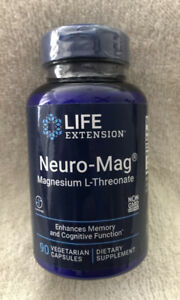 Neuro-Mag Magnesium L-Threonate 2000 mg Magtein Life Extension 90caps New Sealed
