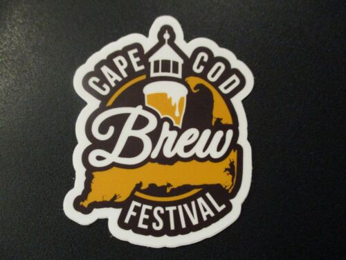CAPE COD BREW FESTIVAL STICKER decal craft beer brewery brewing