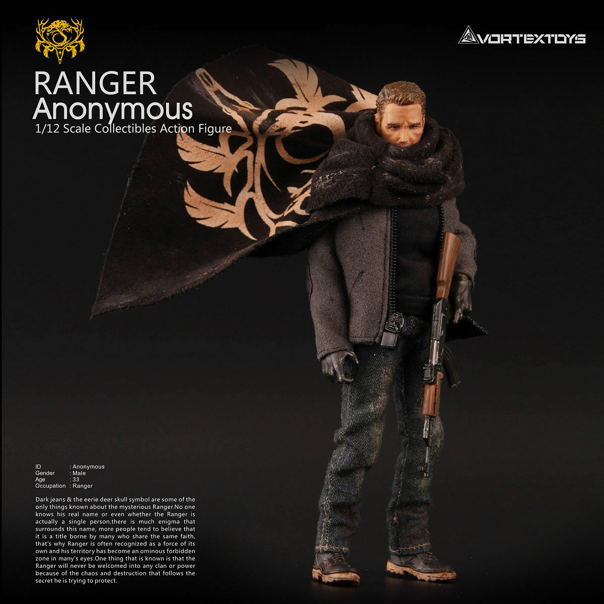 Vortex Toys YEW Series Ranger Anonymous 1 12 Action Figure