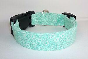 Mint-Green-Flower-Floral-Terri-039-s-Dog-Collar-custom-hand-made-adjustable-charming