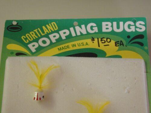 Cortland Popping Bug Lure Afficher vieux fly pêche leurres mouches 6 pcs