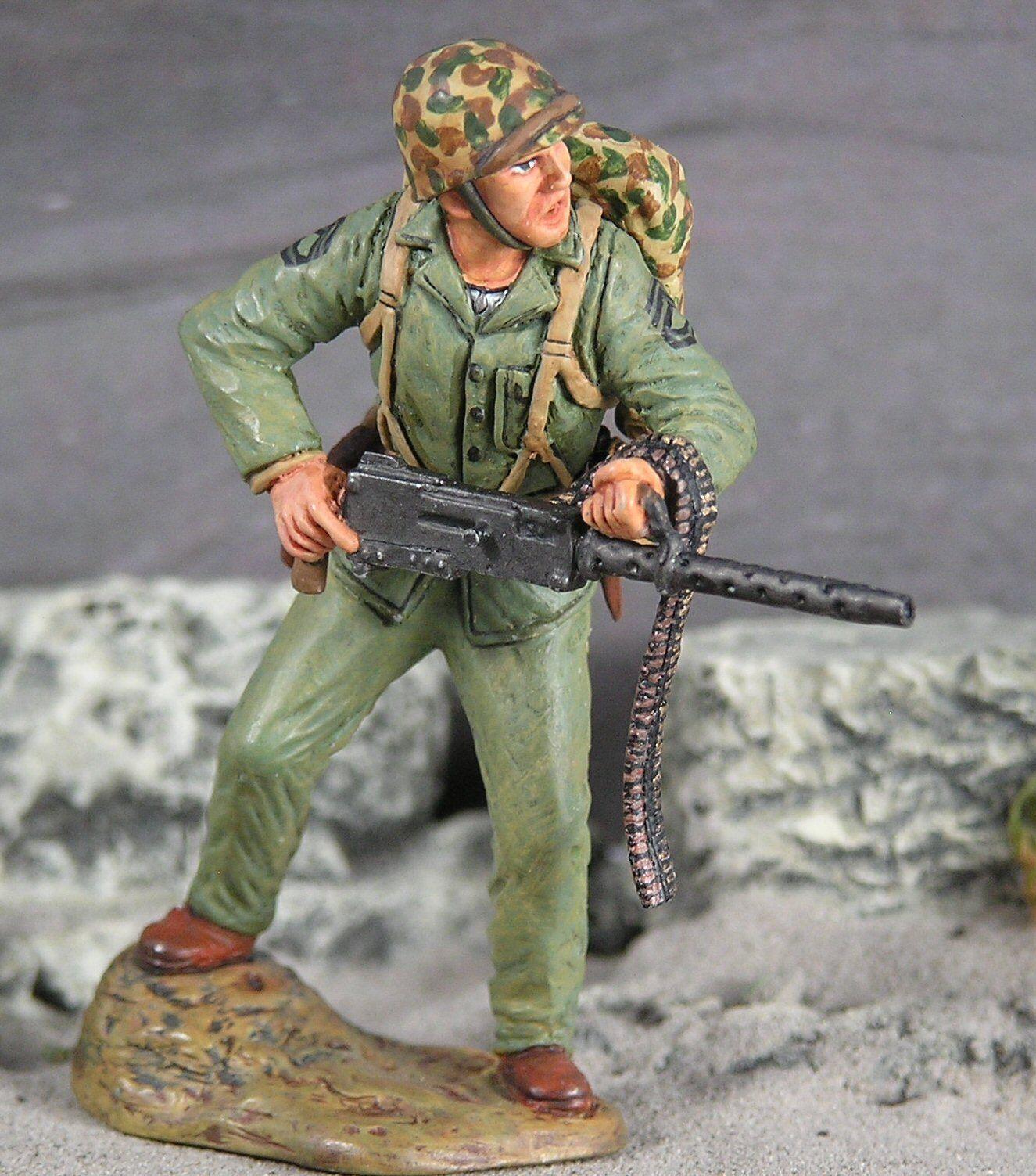 US Marines at Iwo Jima  Gunnery Sergeant John Basilone  1 30 scale