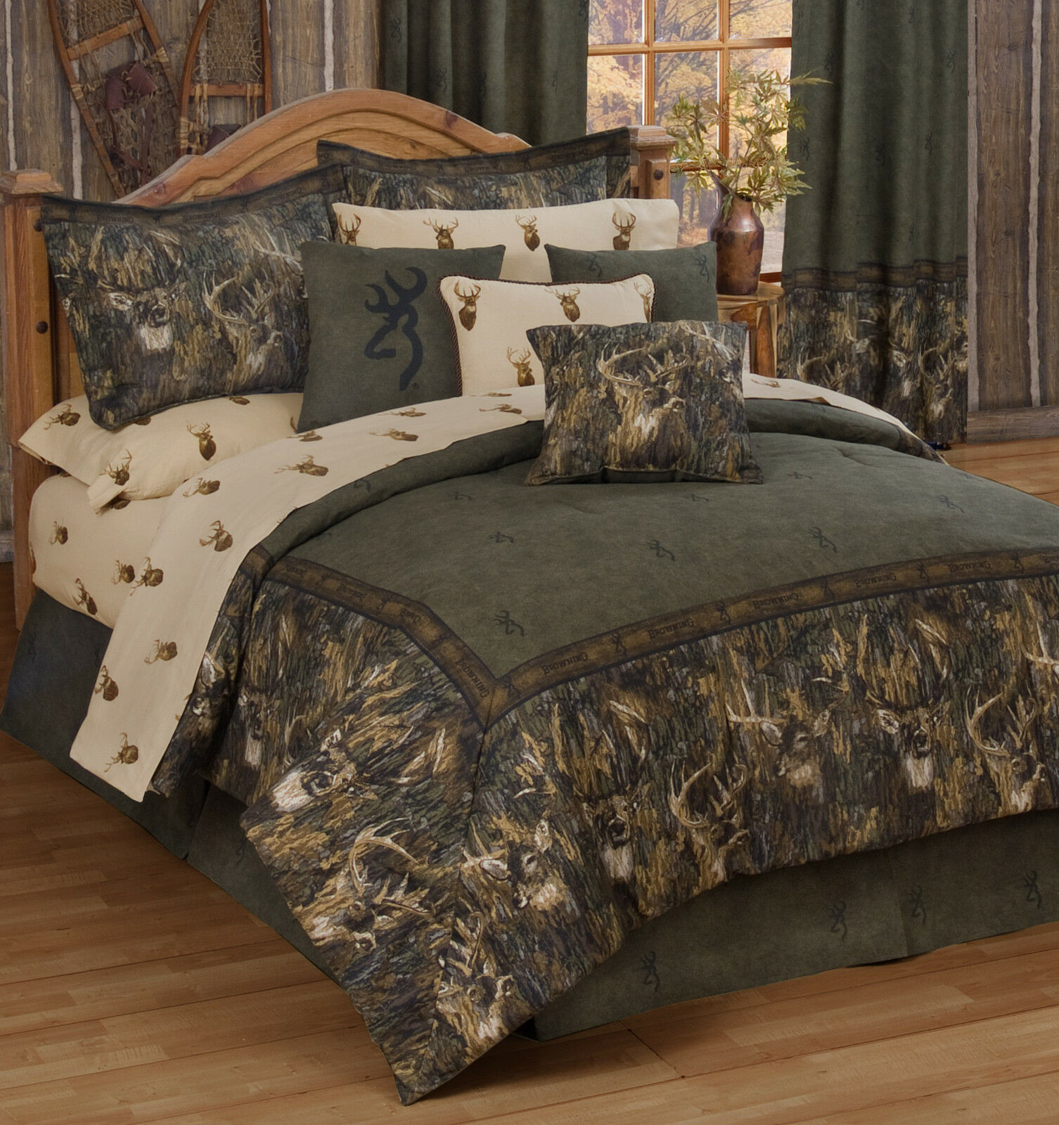 brauning Weißtails Sheets Set - Twin Full Queen King, Cabin Bedding