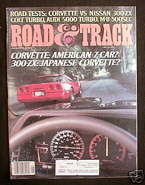 ROAD & TRACK Magazine January 1984 Corvette