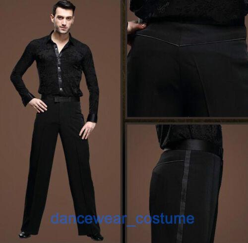 Men/'s Boys Ballroom Latin Rhythm Salsa Dance Pants Tango Modern Smooth Trousers