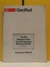General Radio 1615 0100 F Type 1615 1620 Capacitance Bridgeassembly Manual