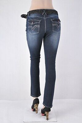 Missy Stretch Denim Boy Ripped Friend Jeans natural aged denim wash #WG-9999INC