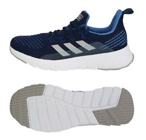 blue and white gym shoes