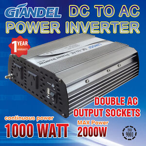 Larger-Shell-Power-Inverter-1000W-2000W-DC-12V-to-240V-AC-Car-Converter-Camping