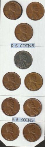 1934P thru 1949P  /&  1934D thru 1949D   />FINE to VF/<   =32 pc LINCOLN CENT SET