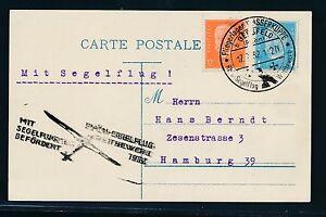 02278) DR Glider Rhön - Segelflug - Wettbewerb 1932, Karte SST 17.7., MiF
