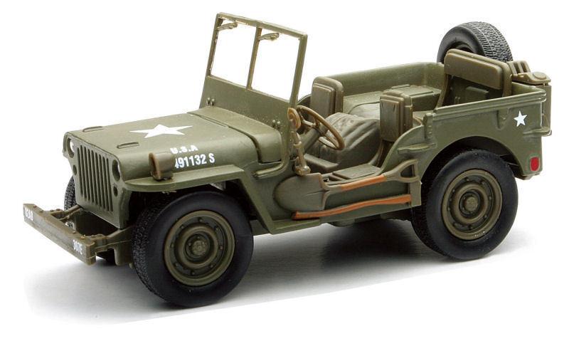 Neu Strahlen blue 1 3 2 Willys Jeep MB 4x4 Spielzeug Modell Weltkrieg 2 USA
