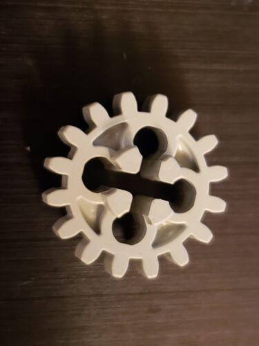x 2 Pieces 4019 LEGO Technic Light Grey Gear Wheel with 16 Teeth Unreinforced