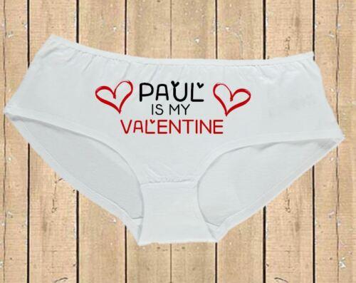 Panties Personalised Womens Valentines Underwear Cute Named Love Heart Knickers