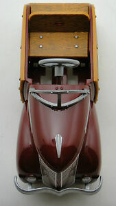 Pedal-Car-Woody-Ford-T-1940-Woodie-Vintage-Metal-gt-gt-gt-READ-gt-gt-gt-8-Inches-in-Length