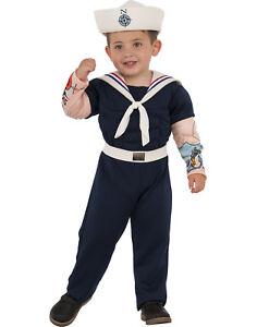 Image is loading Muscle-Man-Suit-Sailor-Navy-Uniform-Boy-Child-  sc 1 st  eBay & Muscle Man Suit Sailor Navy Uniform Boy Child Halloween Costume | eBay