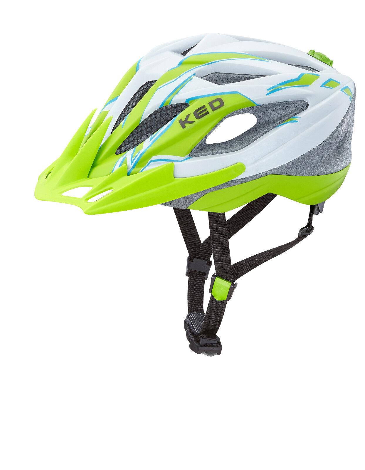 KED Fahrradhelm Street Junior Pro Pearl grün matt   Gr. S 49-55 cm   17423154 S