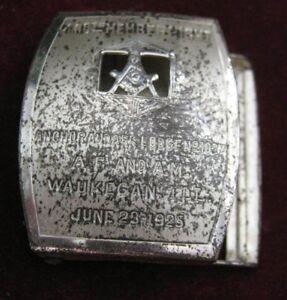 1925-Anchor-amp-Ark-Lodge-1027-Waukegan-400th-MEMBER-NIGHT-Giant-Grip-Belt-Buckle