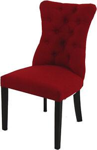 Das Bild Wird Geladen Stuhl Polsterstuhl Esszimmer Sessel Ashley  Rot Handgefertigt TOP