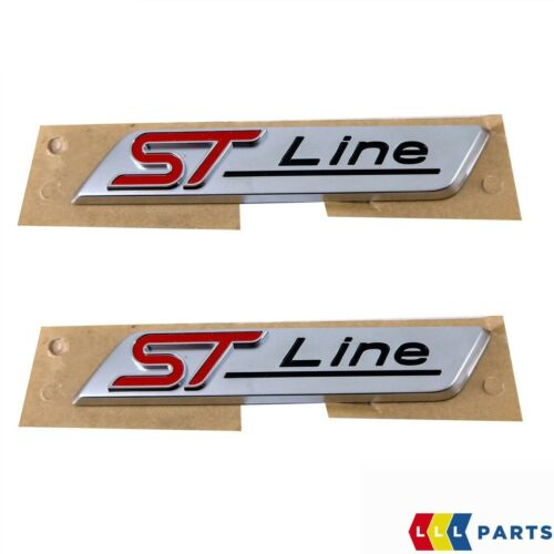 NEW GENUINE FORD MONDEO FIESTA KUGA FRONT WING ST LINE INSCRIPTION BADGE 2PCS