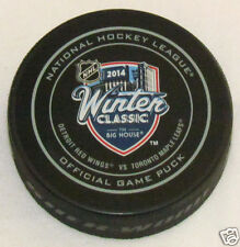 2014 WINTER CLASSIC OFFICIAL GAME PUCK Toronto Maple Leafs Detroit Red Wings NEW