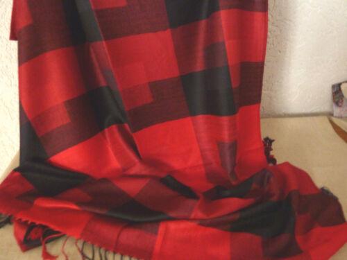 70x190 Karo Muster Stola bitte auswählen Schals und Tücher JACQUARD SCHAL