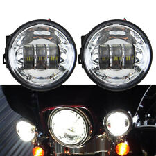 """2x 4-1/2"""" 4.5"""" Zoll Haupt LED Auxiliary Passing Nebelleuchte Motorrad Für Harley"""