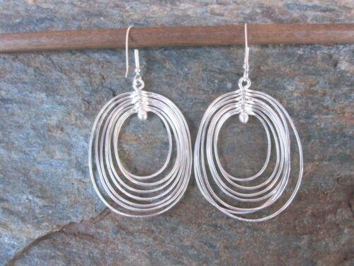 925 Silber Hoops Ohrringe von Artesanas Campesinas in Mexico Neu er010