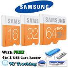 Samsung EVO 16GB 32GB 64GB micro SD SDHC SDXC Class10 microSD Card Lot Gifts