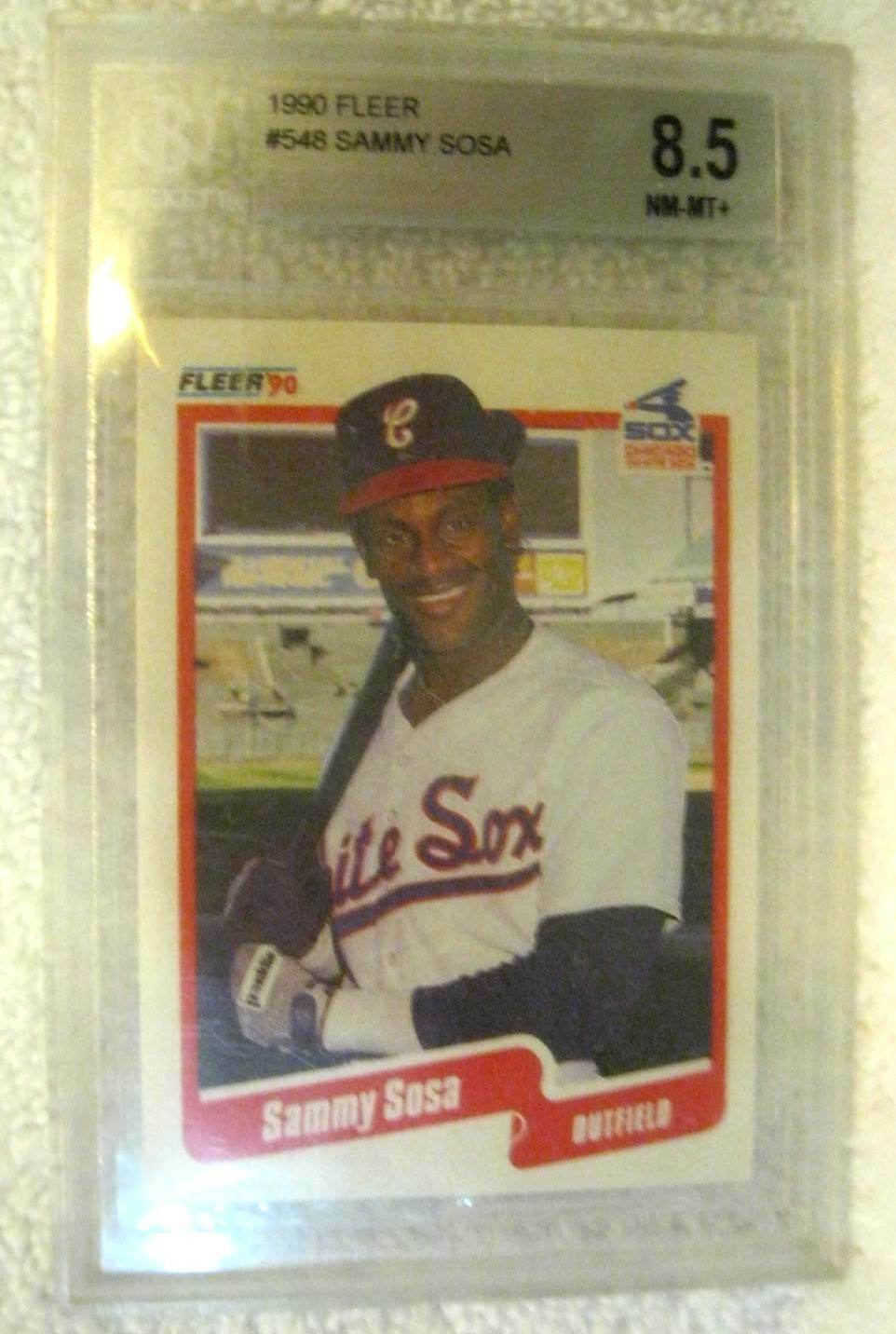 Details About Sammy Sosa Rc 1990 Fleer Baseball Card548 Graded Nm Bgs 85white Sox Of Rc